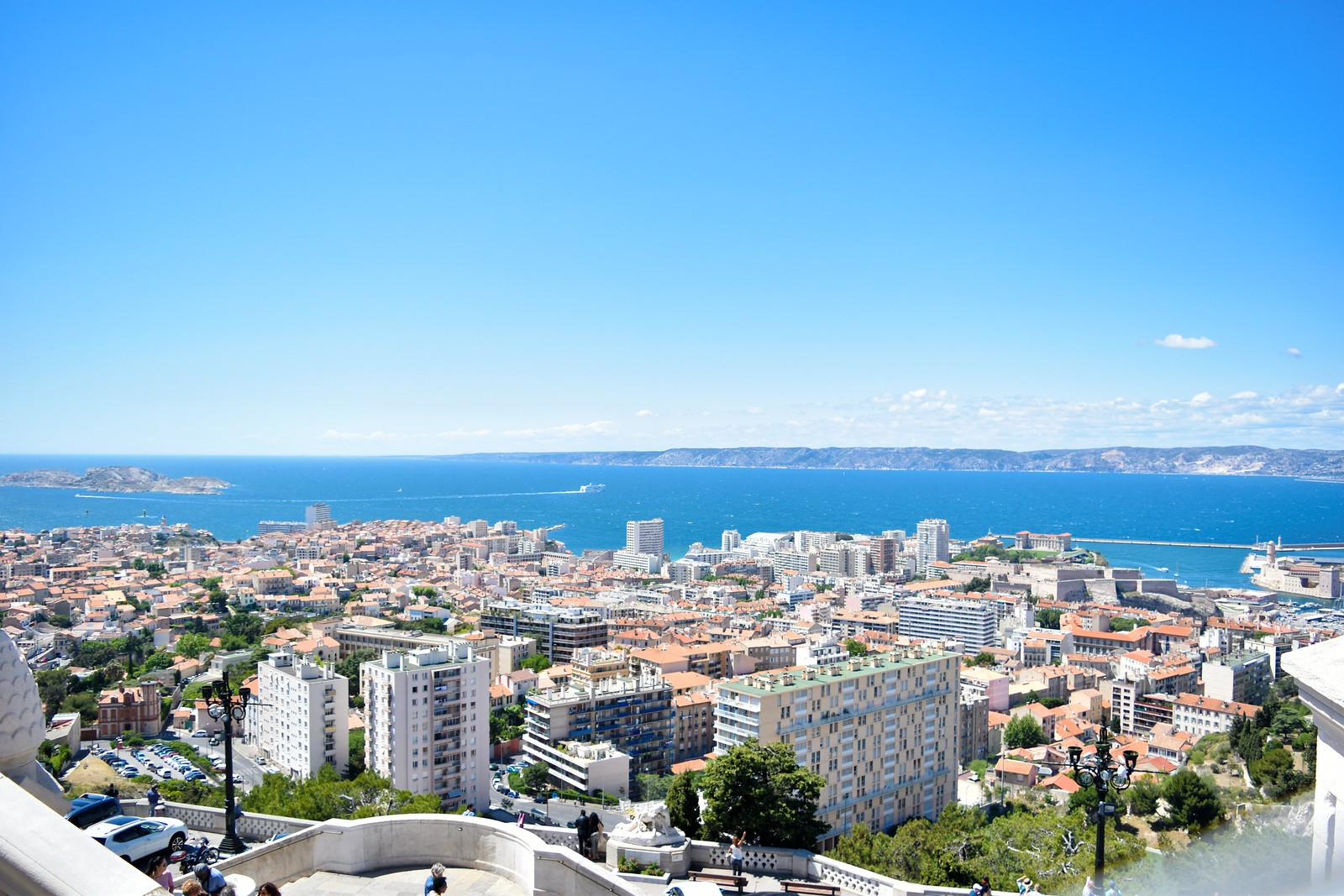 view of Marseille from the Notre Dame de la Garde