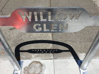 Willow Glen bike rack 30 July 2016