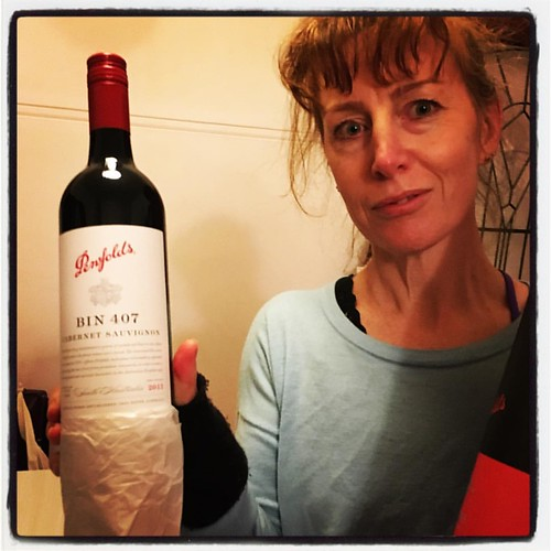 You know how we caught the Lost Cat and returned him to his owners? They dropped some fancy wine round as a thank you: Penfolds Bin 407, 2013. My wine expert tells me this is a very good wine and should be saved for a special occasion. I said at the time