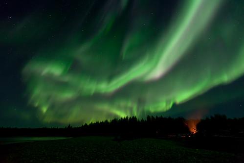 090316 - The Aurora lights up the local gravelbar
