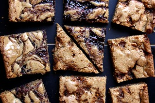 brittle and jam blonde brownies | by joy the baker