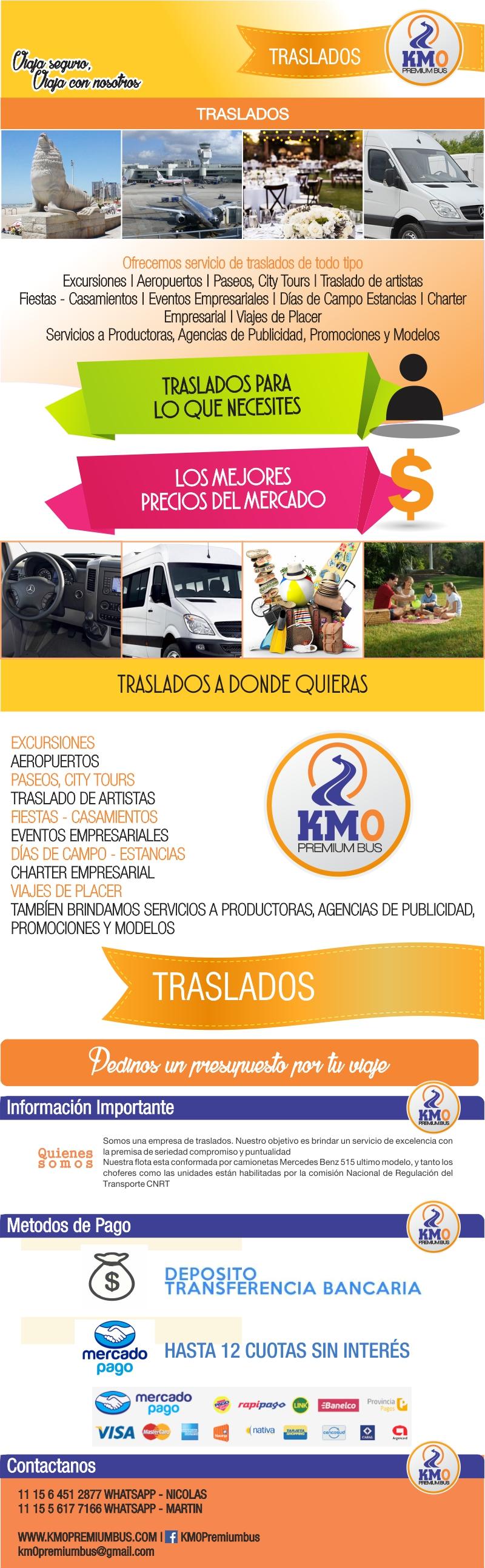 Plantilla Mercado Libre KM0 TRASLADOS