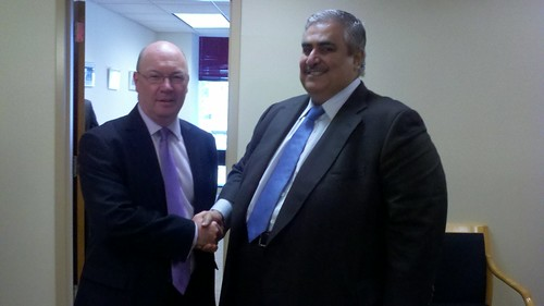 Minister Alistair Burt meets with Mr Khalid bin Ahmed Al Khalifa, the Bahraini Foreign Minister, during Ministerial week at the UN General Assembly | by UKUnitedNations