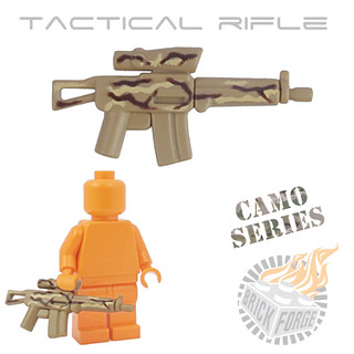Tactical Rifle - Dark Tan w/ Camo | by BrickForge