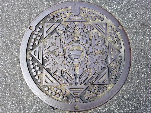 Sakaigawa Yamanashi, manhole cover (山梨県境川村のマンホール)