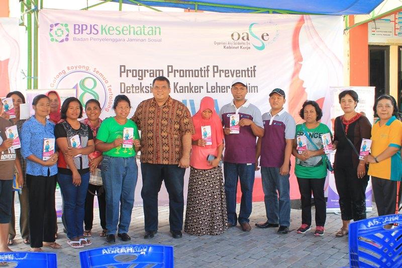 BPJS Kesehataan KC Waingapu - Pemeriksaan IVA - Foto Bersama