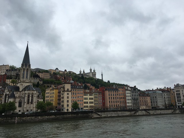 City of Lyon along the Saône River