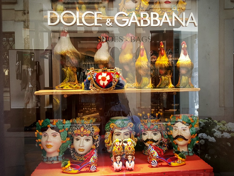 Dolce and Gabbana windows