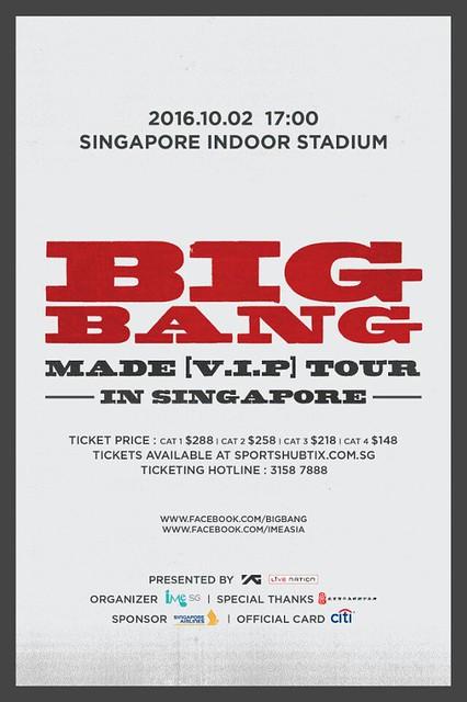 BIGBANG MADE TOUR IN SINGAPORE
