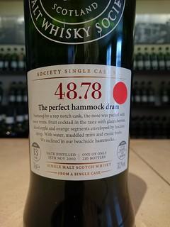 SMWS 48.78 - The perfect hammock dram