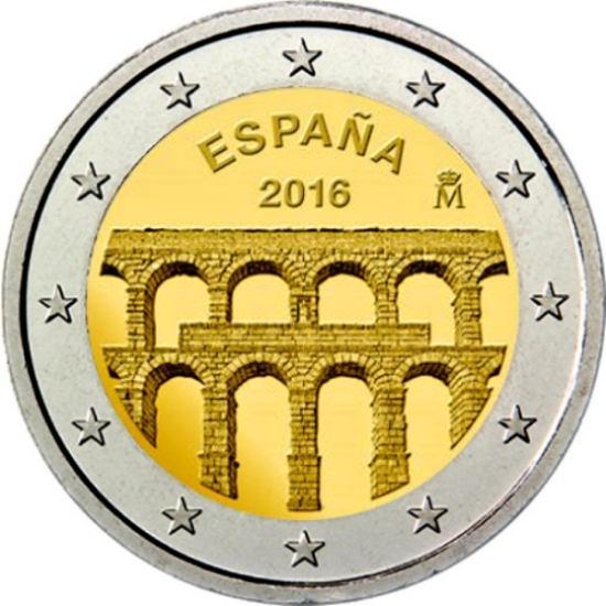 2 Euro Španielsko 2016, Akvadukt Segovia