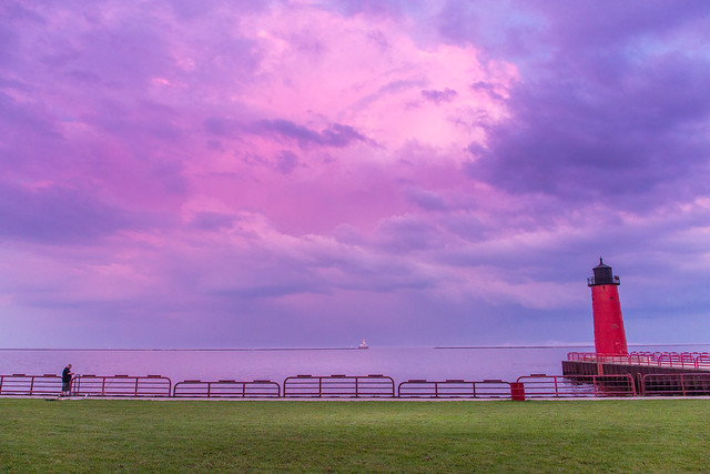 Colorful Sky Over Pierhead Lighthouse