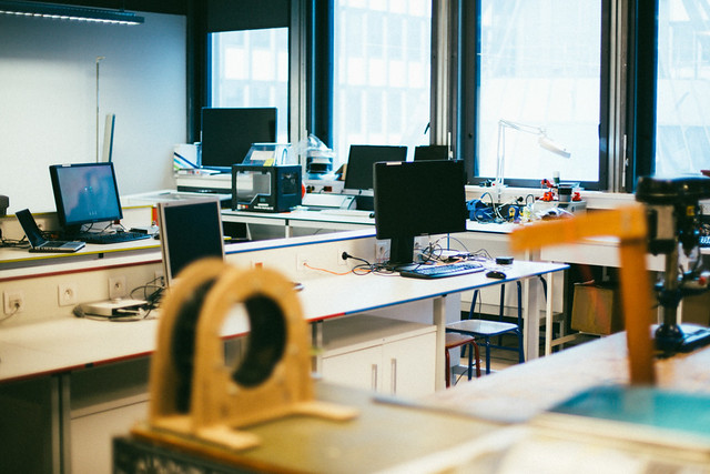 Les salles du FabLab Sorbonne Universités