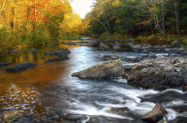 Autumn colors along the Lamprey River in New Hampshire. - Credit:Mark Giuliucci, Flickr Public Use
