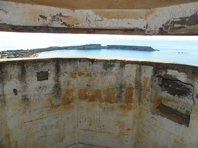 Gérakas beach from Nazi bunker