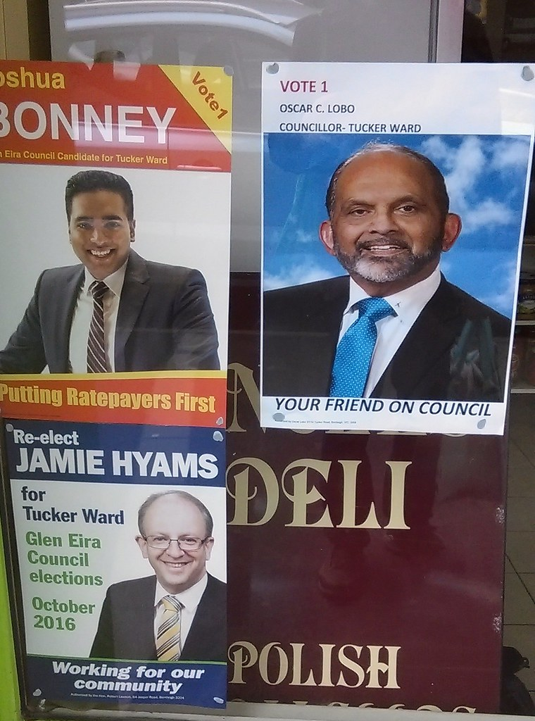 Glen Eira council election posters 2016