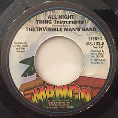THE INVISIBLE MAN'S BAND:ALL NIGHT THING(LABEL SIDE-B)
