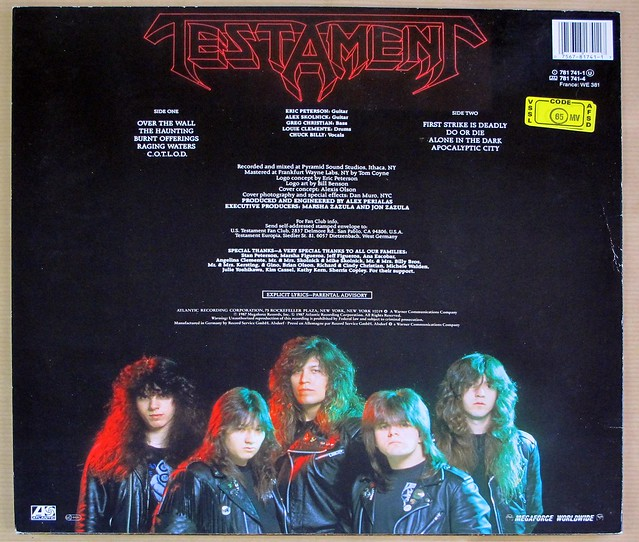 "Testament The Legacy 12"" VINYL LP"