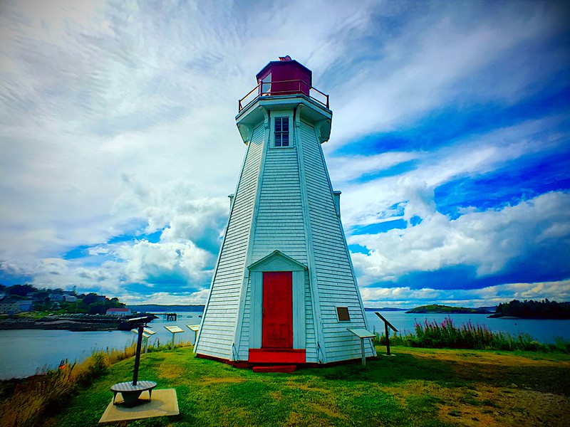 mulholland point lighthouse. campobello island, new brunswick, canada. II.