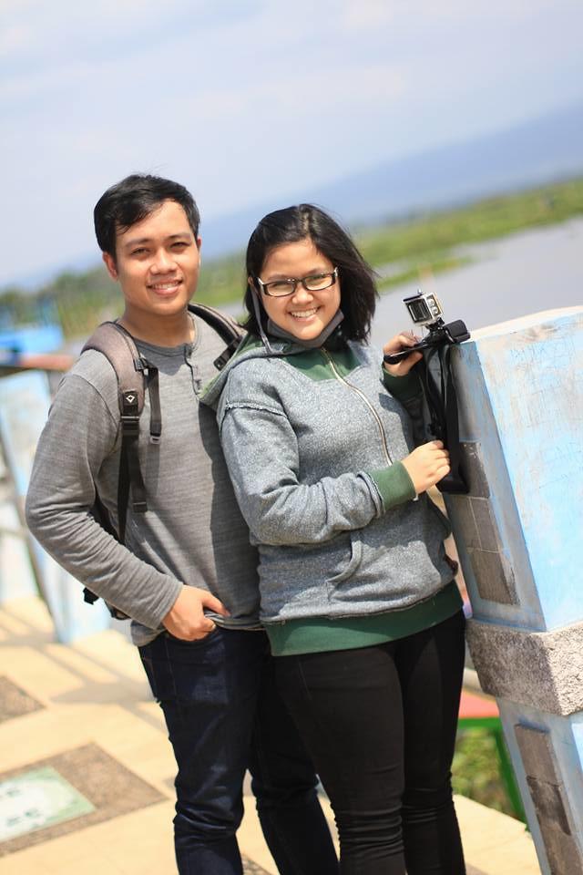 Saya & Septi; Jembatan Biru Rawa Pening