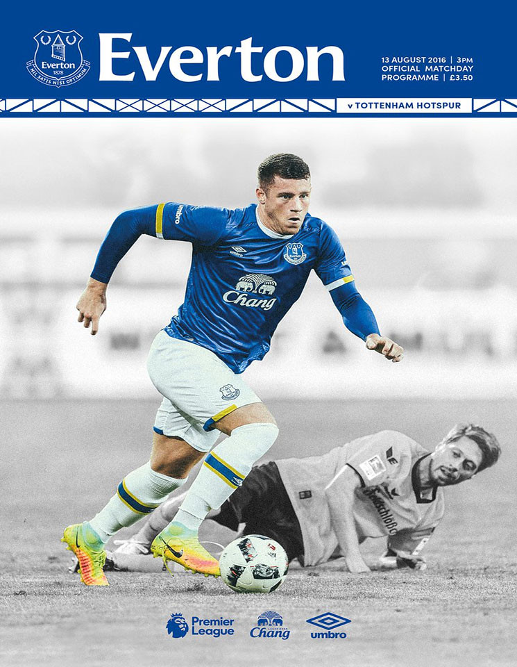 Match programme - Everton v Tottenham Hotspur - Saturday 13th August 2016