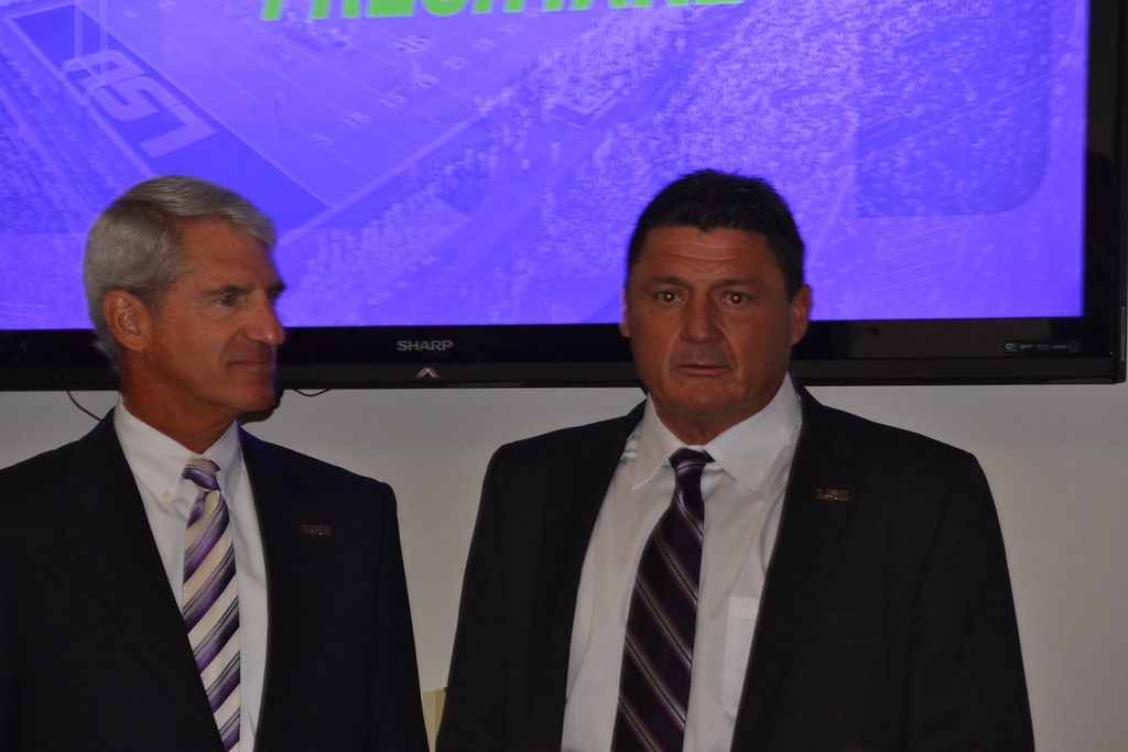 Ed Orgeron introduced at LSU