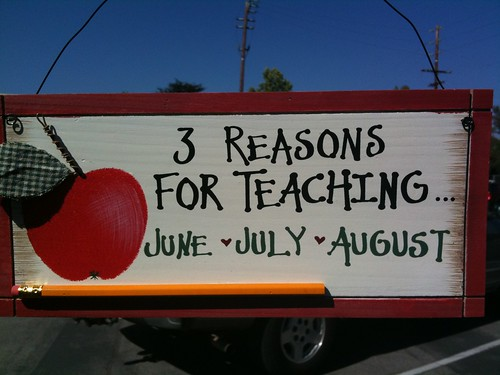 Reasons for teaching