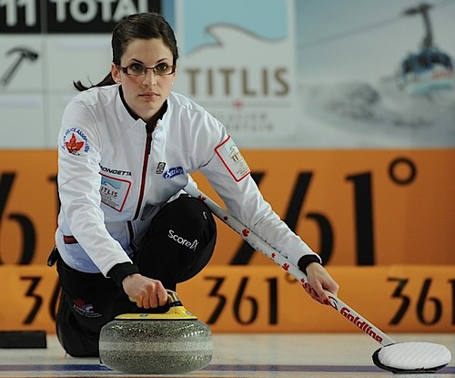 Riga Latvia,Mar21.2013.Titlus Woman's World Curling Championship.Canadian lead Lisa Weagle,CCA/michael burns photo | by seasonofchampions