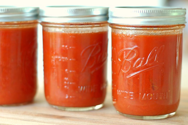 Jars of homemade tomato soup by Eve Fox, the Garden of Eating, copyright 2016