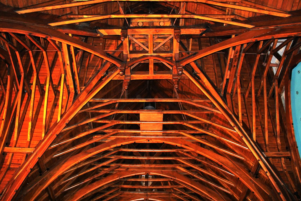 Inverted boat ceiling at Luss Church