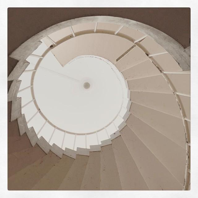 「展望台への階段」 #千光寺展望台 #尾道 #らせん階段