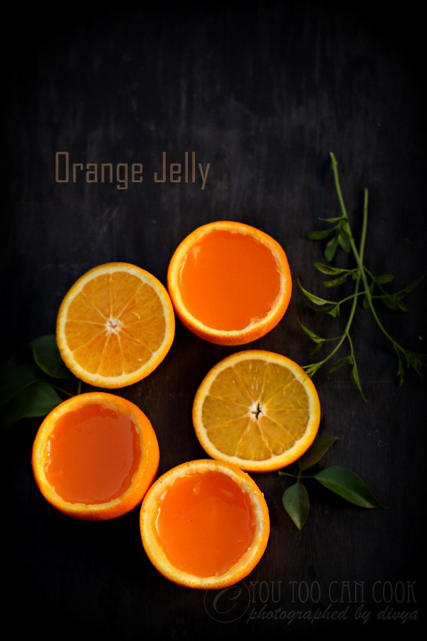 orange jelly using agar agar