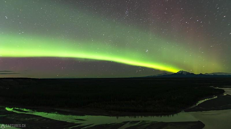 Northern lights over the Mt. Drum 2 - Glenallen