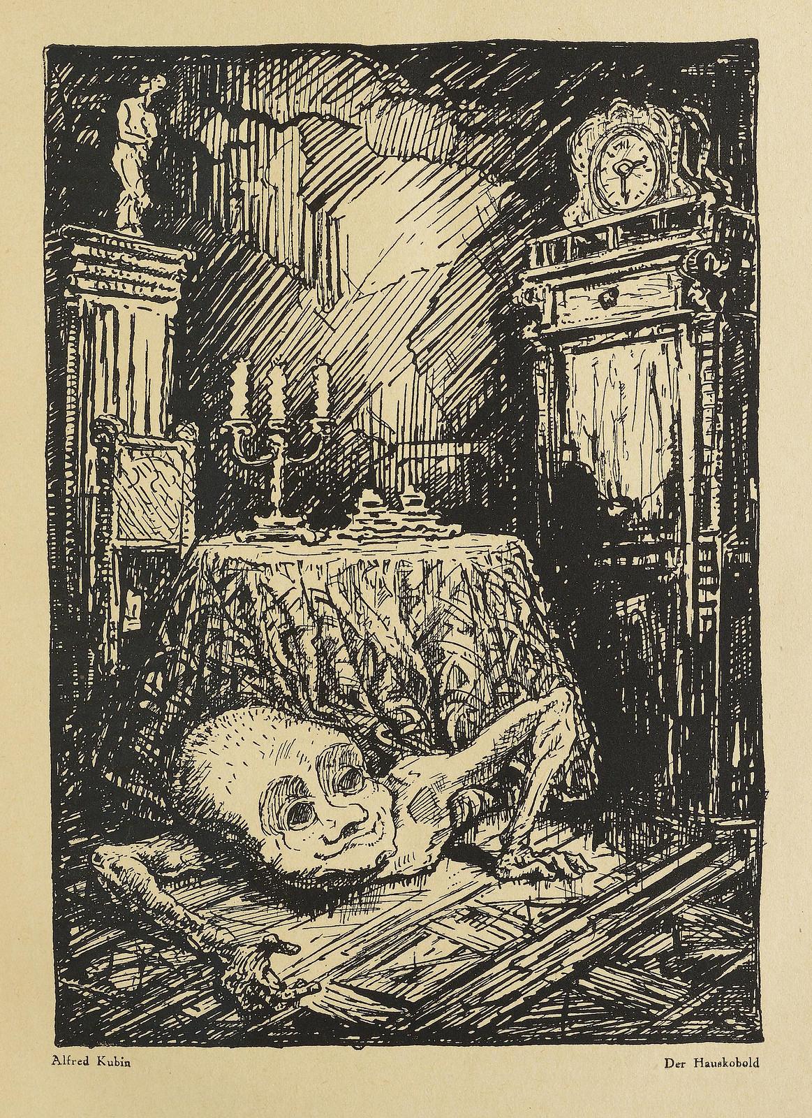 Der Orchideengarten - 1919, Alfred Kubin - Der Hauskobold