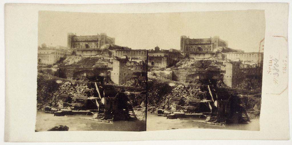 Alcázar y Artificio de Juanelo en 1856. Fotografía estereoscópica de Joseph Carpentier © Bibliothèque Nationale de France