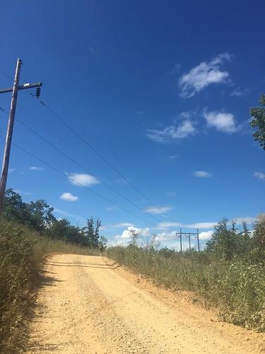 Hot road walk