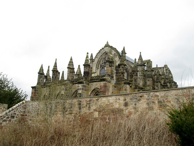 Rosslyn Chapel From Surrounding Path.