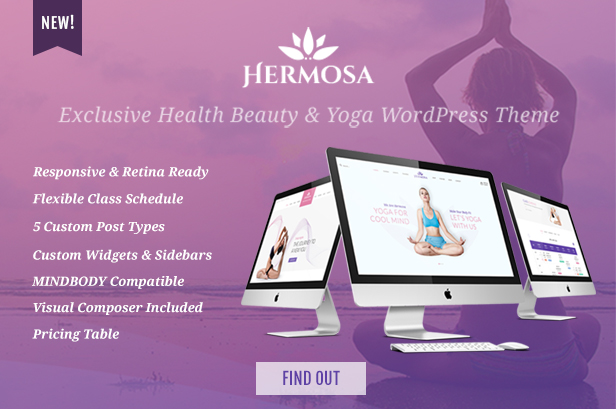 Yogi Health Yoga WordPress theme