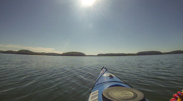 Paddling to Ghost Island in Lake Hartwell-100