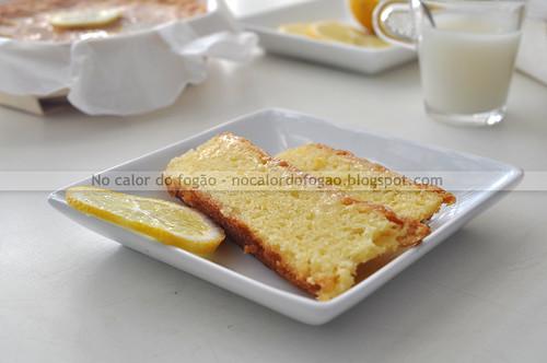 Bolo de chocolate branco e limão - fatia