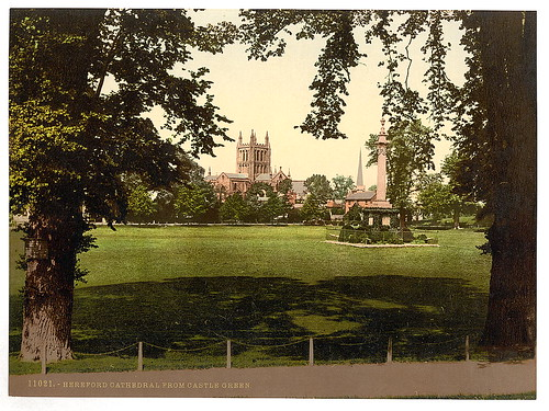 [Cathedral from Castle Green, Hereford, England]  (LOC) | by The Library of Congress
