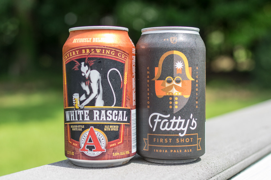 White Rascal Belgian-Style Ale and Fatty's First Shot IPA
