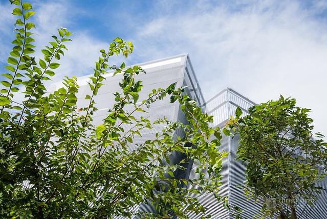 Upward view of Nakamachi Terrace (なかまちテラス)