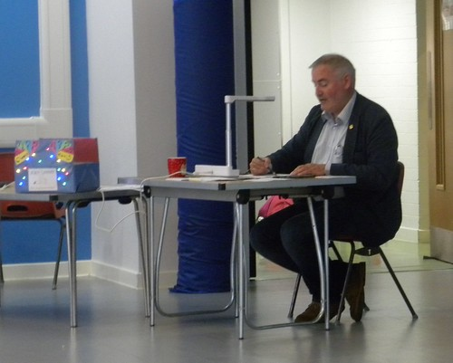 Chris Riddell with questions box