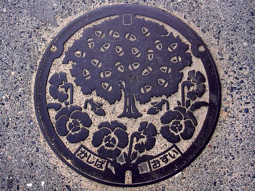 Kashiba Nara, manhole cover 3 (奈良県香芝市のマンホール3)