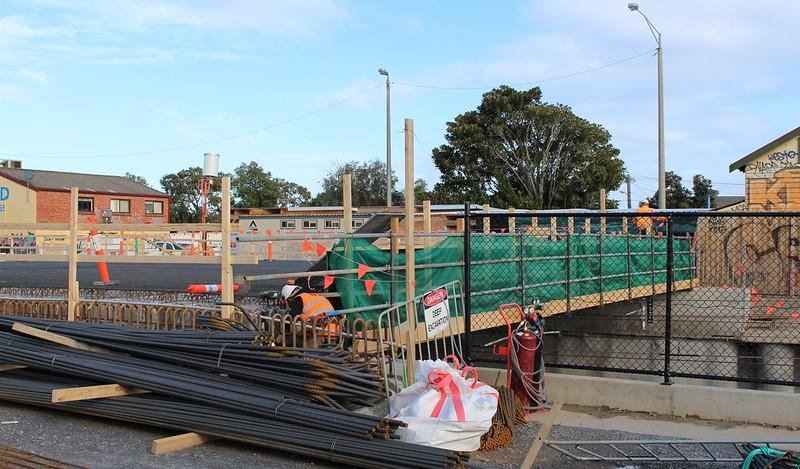 Ormond station under construction, July 2016