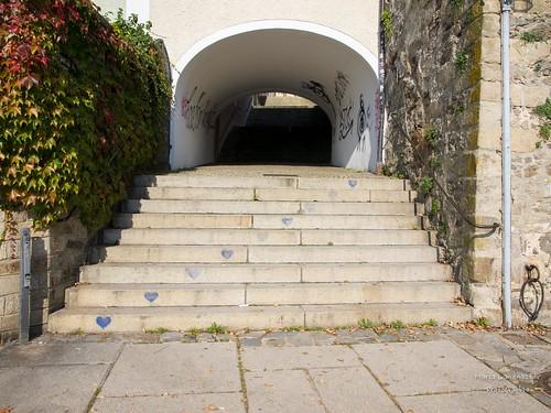 Treppe mit Herz