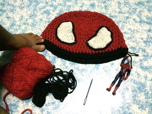 Spiderman Crochet Beanie