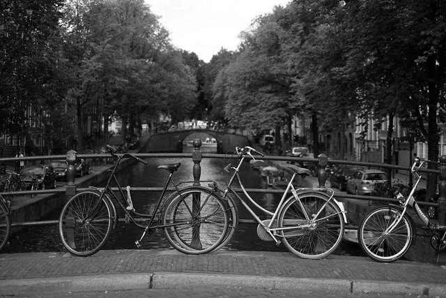 Bike at canal in Amsterdam 50