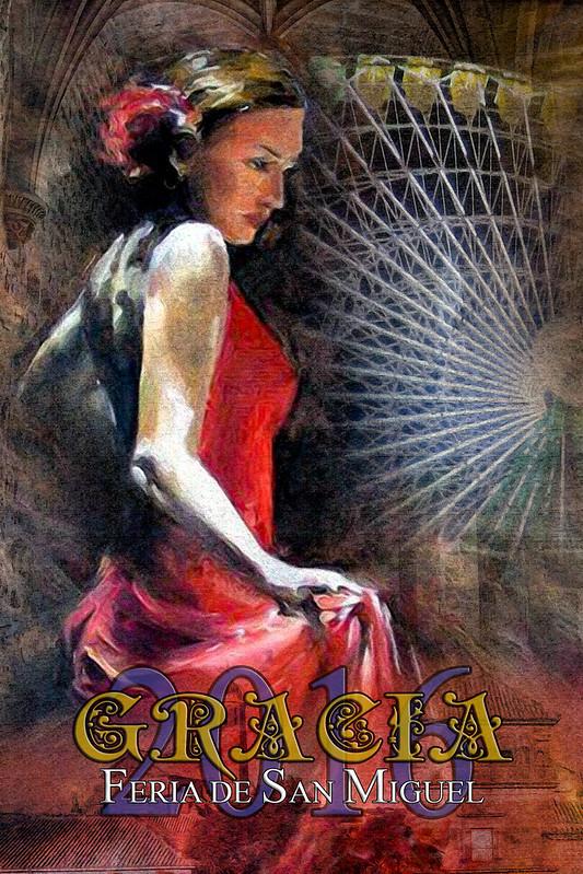 Flamenca Dancer 20X30